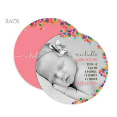 And adorable photo Circle Birth Announcement!