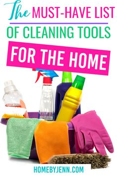 Everyone wants a clean home for that to happen there are cleaning tools you need for your home. Today I'm going to share some must-have cleaning tools for the home. via @homebyjenn Cleaning Caddy, Cleaning Routines, Daily Cleaning, Cleaning Hacks, Routine Printable, Broom And Dustpan, Steam Mop, Homemade Cleaning Products, Organized Mom