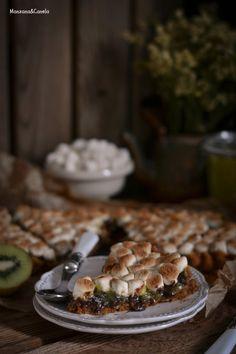 Receta para niños con kiwis Zespri: Tarta de crema de kiwi con chocolate y marshmallows