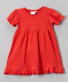 Barefoot Blanks Red Ruffle Dress-