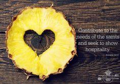 Pineapple Heart Romans 12:13