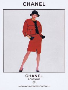 Chanel Boutique Chanel 1980s Vintage Fashion Advertising