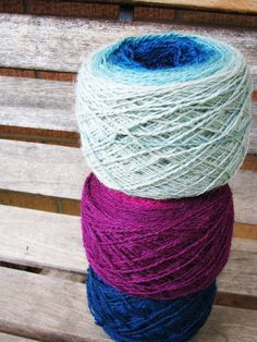 Laceweight gradients just hangin' out.