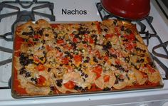 Nachos on the Demarle at Home Large Silpat - yum! EMAIL me for the recipe! culshafe@gmail.com