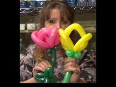 Balloon Tulip Flower Twisting Tutorial | Chicago Balloon Twister  www.TheClassyClown.com