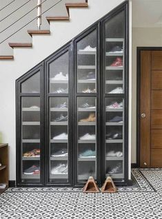 7 Amazing Shoe Storage Ideas From Real Homes is part of Storage furniture bedroom - Whether you're into sneaks or stilettos, there's a storage solution for every shoe collection Storage Furniture Bedroom, Home Interior Design, House Design, Home Room Design, Space Saving Shoe Rack, Industrial House, House Interior, Shoe Storage Furniture, Room Design