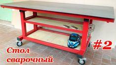 Part Welding Table Diy, Welded Metal Projects, Table Plans, Kitchen Cart, Shoe Rack, Workshop, Building, Furniture, Youtube