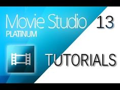 Beginners Guide for Sony Movie Studio Platinum 13 (How to Use) - YouTube