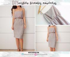 DIY sewing   Vestido verano con tirantes anudados   Easy summer dress