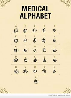 Medical Alphabet, or my father's