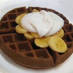 Clean Eating Brownie Waffles - The Kitchen Table - The Eat-Clean Diet®