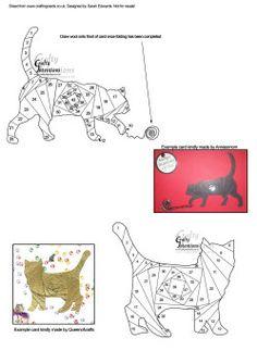 Home : Iris Folding : Animals : 2 Cats Iris Folding Patterns