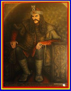 Vlad III Dracula on his throne.