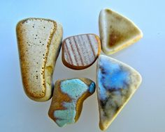 -Sea pottery with the glazes still in tact