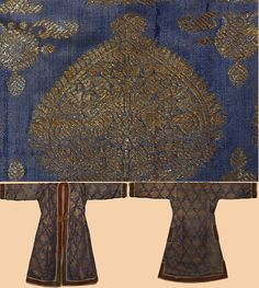 Antique Indian Silk Brocade with Gold Thread Jacket Mughal Dynasty 1526 - 1857 A.D