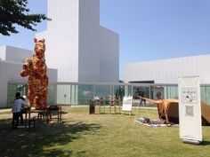 Exhibition outside at towada art museum