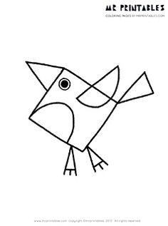 pagina aves para colorear - decargable gratis