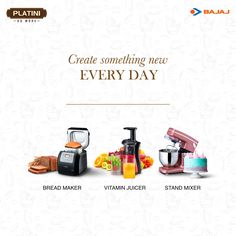 Discover endless #culinary possibilities with the #Bajaj #Platini range of kitchen #appliances. Visit http://bit.ly/Platini_Range to #DoMore