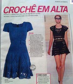Receitas Círculo - Vestido Azul - Revista Manequim