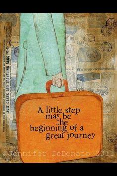 [CELE] Mały kroczek może być początkiem wspaniałej podróży. Zrób dziś COKOLWIEK w stronę realizacji marzeń.