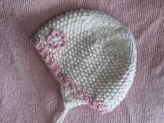 Baby organic cotton hat with earflaps by Elena Chen on Ravelry