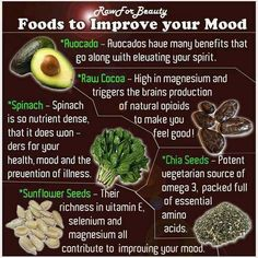 Foods to improve your mood.