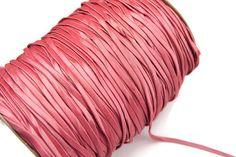 Dark Blush Pink Taffeta Trim Spaghetti Straps by felinusfabrics