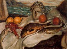 De Chirico- Bodegón. Óleo sobre tela, 73 x 101 cm, Roma, Galleria Nazionale d´Arte Moderna, 1929