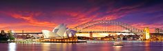 Fiery sky over Opera house by AtomicZen : )