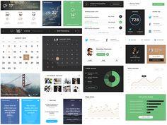 Cool looking website widgets from Monica Web UI Kit