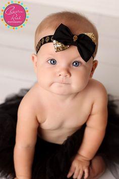 Baby girl in Halloween Headband by Splendid Bee  www.christenrush.com Material Flowers, Halloween Headband, Christening, Baby Kids, Bee, Maternity, Ribbon, Portrait, Photography
