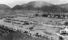 Vista general de área de las casas de los trabajadores de la central azucarera en Ensenada, Guánica, Puerto Rico (c1922)
