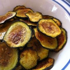 A Healthy Snack: Baked Zucchini Chips | Oh Snap! Let's Eat!