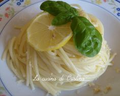 Spaghetti al limone - Spaghetti cu lamaie
