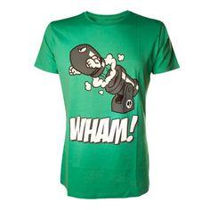 Super Mario - Camiseta Bola Willi Blaster - unisex - verde - S #camiseta #realidadaumentada #ideas #regalo