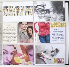 I like the inclusion of B&W photos, the glitter digi letters on photos, and also journaling about books read.