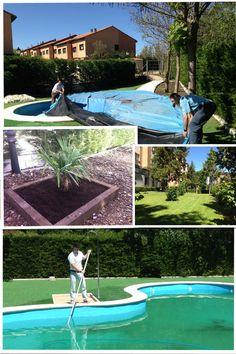 Preparación de piscinas y jadines. BlueClean 2013