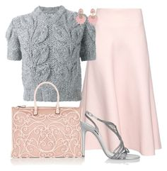 Designer Clothes, Shoes & Bags for Women Pink Dress Outfits, Amrita Singh, Pink Garden, Dress Skirt, Valentino, Fashion Dresses, Spring Summer, Glamour, Polyvore