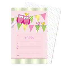 Pink Owl Invitations $19.95