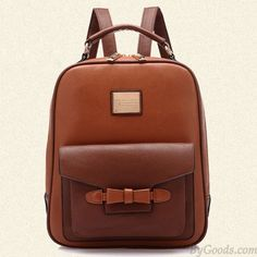 Retro British Leisure Bow Backpack Schoolbag only $29.99 in ByGoods.com!