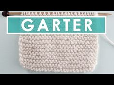 How to Knit the GARTER Stitch Pattern with Studio Knit