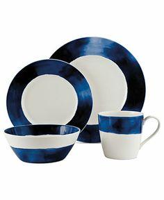 Lauren Ralph Lauren Dinnerware, Somerset Island Indigo 4-Piece Place Setting - Dinnerware - Dining & Entertaining - Macys