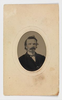 Tintype Photograph of Gustave Young (1827–1895), ca. 1860. American. The Metropolitan Museum of Art, New York. Purchase, Bernice and Jerome Zwanger Gift, 2003 (2003.521) | This work is featured in our Arms and Armor Notable Acquisitions 2003–2014 exhibition on view through December 6, 2015.