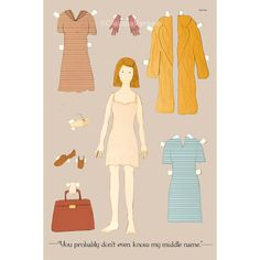 The Margot Tenenbaum paper doll 12x18 inches by ClaudiaVarosio
