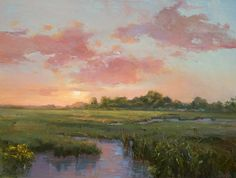 Barbara Lussier (oil painting) a nice balance with a wonderful sense of the night quickly coming on