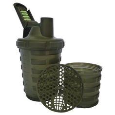 Grenade Shaker Blender Mixer Bottle Cup 20oz 600ml Separate Protein Compartment #SmartShake