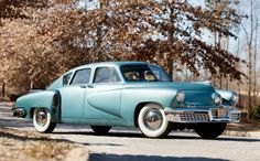 1948 Tucker 48 - Estimate $950,000 – $1,300,000. Approximately 5,200 Miles and just four owners from new; featured in the film: Tucker: The Man and His Dream.