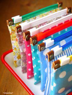 続・スライダー式のぺたんこポーチ - *chouchou* Diy Arts And Crafts, Paper Crafts, Diy Crafts, Woodworking Projects, Sewing Projects, Projects To Try, Cool Lunch Boxes, Fabric Boxes, Elephant Pattern