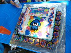 Splatoon Cake & Cupcakes