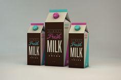 La graphiste brésilienne Isabela Rodrigues devait avoir une envie de lait. Afin d'expérimenter de nouveaux concepts de packaging, elle a imaginé ces bouteilles en cartons pour des produits laitiers. Elle joue sur la typographie et les couleurs et ne s'est fixée aucune limite pour concevoir ces emballages.